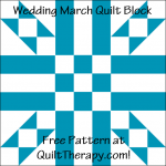 """Wedding March Quilt Block Free Pattern for a 12"""" quilt block at QuiltTherapy.com!"""