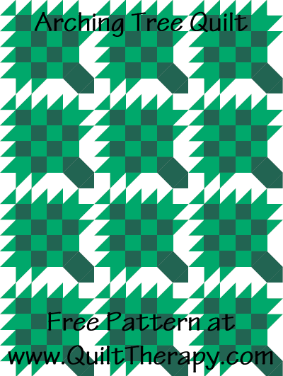Arching Tree Quilt Free Pattern at QuiltTherapy.com!