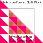 "Christmas Basket Quilt Block Free Pattern for a 12"" quilt block at QuiltTherapy.com!"