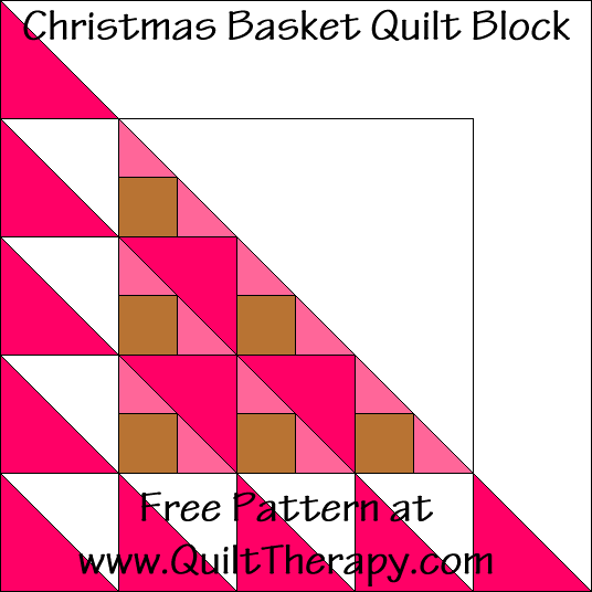 Christmas Star Basket Quilt Block Free Pattern at QuiltTherapy.com!