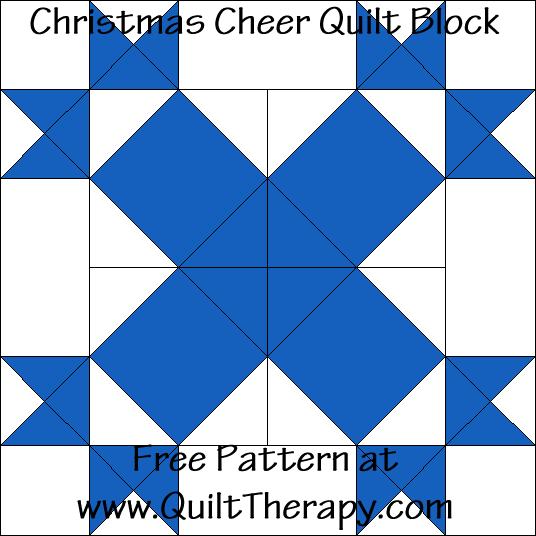 Christmas Cheer Quilt Block Free Pattern at QuiltTherapy.com!