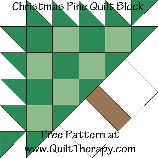 Christmas Pine Quilt Block Free Pattern at QuiltTherapy.com!