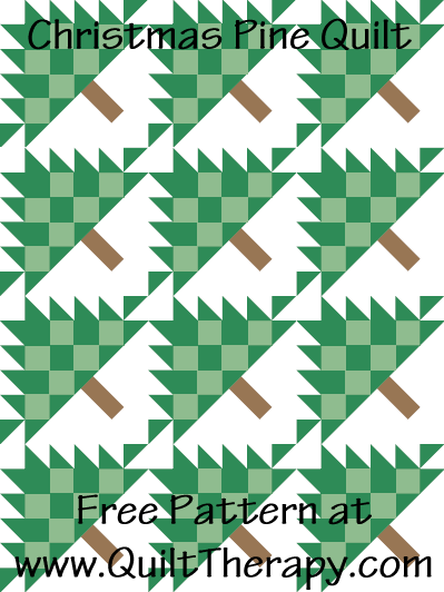 Christmas Pine Quilt Free Pattern at QuiltTherapy.com!