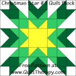 Christmas Star #1 Quilt Block Free Pattern at QuiltTherapy.com!