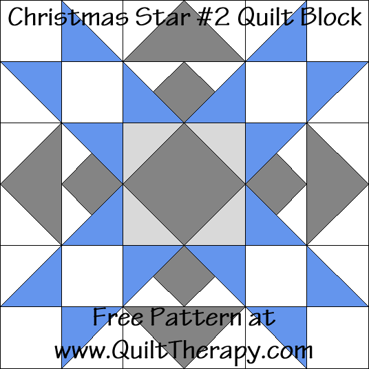 Christmas Star #2 Quilt Block Free Pattern at QuiltTherapy.com!