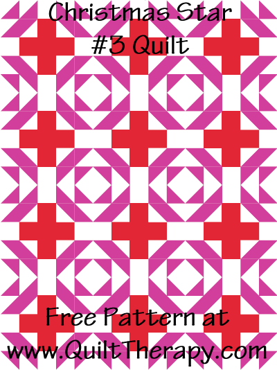 Christmas Basket Quilt Free Pattern at QuiltTherapy.com!