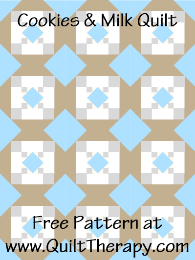 Cookies & Milk Quilt Free Pattern at QuiltTherapy.com!