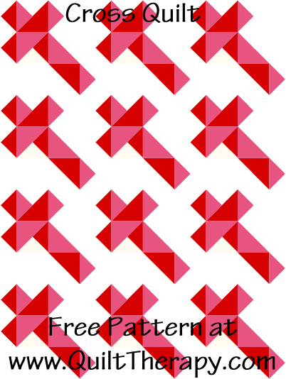 Cross Quilt Free Pattern at QuiltTherapy.com!