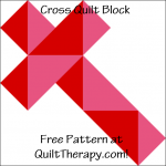 "Cross Quilt Block Free Pattern for a 12"" quilt block at QuiltTherapy.com!"