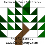 Delaware Pines Quilt Block Free Pattern at QuiltTherapy.com!