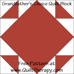 Grandfather's Choice Quilt Block Free Pattern at QuiltTherapy.com!