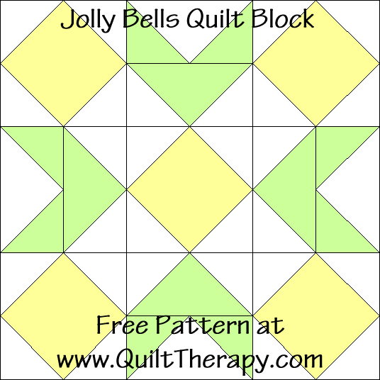Jolly Bells Block Free Pattern at QuiltTherapy.com!