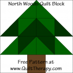 North Woods Quilt Block Free Pattern at QuiltTherapy.com!
