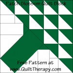 Patch Blossom Quilt Block Free Pattern at QuiltTherapy.com!