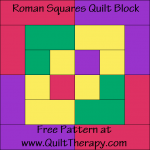 Roman Squares Quilt Block Free Pattern at QuiltTherapy.com!