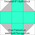 Snowball #1 Quilt Block Free Pattern at QuiltTherapy.com!