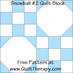 Snowball #2 Quilt Block Free Pattern at QuiltTherapy.com!
