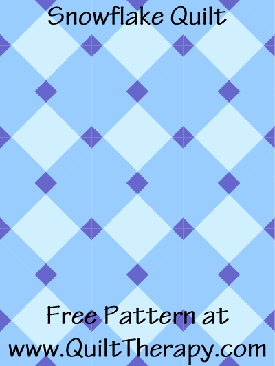Snowflake Quilt Free Pattern at QuiltTherapy.com!