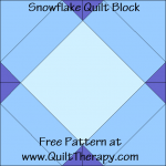 Snowflake Quilt Block Free Pattern at QuiltTherapy.com!