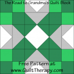 The Road to Grandma's Block Free Pattern at QuiltTherapy.com!