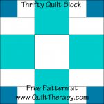 Thrifty Quilt Block Free Pattern at QuiltTherapy.com!
