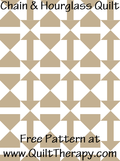Chain & Hourglass Quilt Free Pattern at QuiltTherapy.com!
