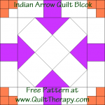 Indian Arrow Quilt Block Free Pattern at QuiltTherapy.com!