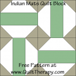 Indian Mats Quilt Block Free Pattern at QuiltTherapy.com!