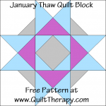 January Thaw Quilt Block Free Pattern at QuiltTherapy.com!