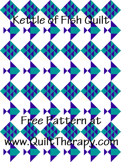 Kettle of Fish Quilt Free Pattern at QuiltTherapy.com!