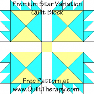 Premium Star Variation Quilt Block Free Pattern at QuiltTherapy.com!