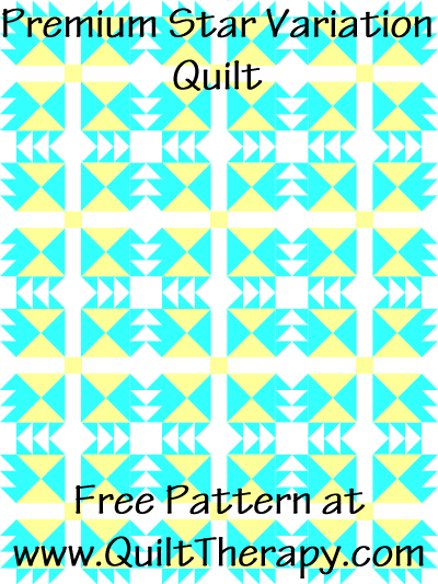 Premium Star Variation Quilt Free Pattern at QuiltTherapy.com!