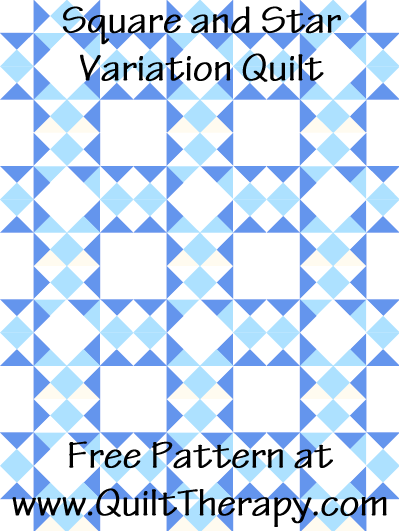 Square and Star Variation Quilt Free Pattern at QuiltTherapy.com!
