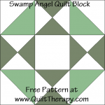 Swamp Angel Quilt Block Free Pattern at QuiltTherapy.com!