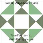 """Swamp Angel Quilt Block is a Free Pattern for a 12"""" quilt block at QuiltTherapy.com!"""