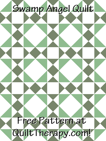 """Swamp Angel Quilt is a Free Pattern for a 36"""" x 48"""" quilt at QuiltTherapy.com!"""