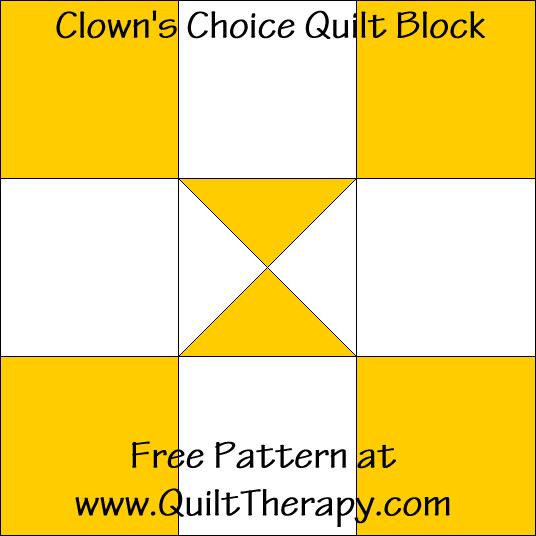 Clowns Choice Quilt Block