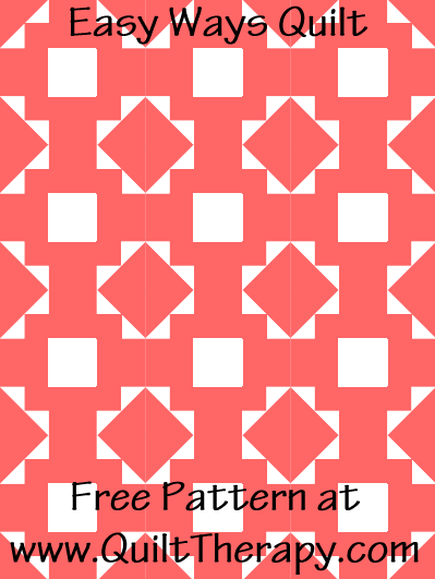 Easy Ways Quilt Free Pattern at QuiltTherapy.com!