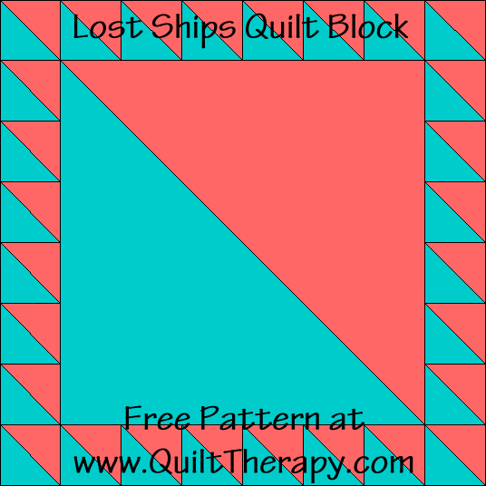 Lost Ships Quilt Block Free Pattern at QuiltTherapy.com!