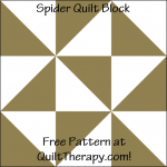 """Spider Quilt Block is a Free Pattern for a 12"""" quilt block at QuiltTherapy.com!"""
