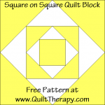 Square on Square Quilt Block Free Pattern at QuiltTherapy.com!