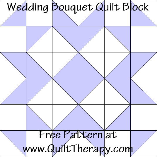 Wedding Bouquet Quilt Block Free Pattern at QuiltTherapy.com!