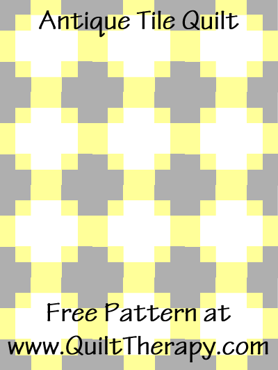 Antique Tile Quilt Free Pattern at QuiltTherapy.com!