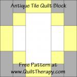 Antique Tile Quilt Block Free Pattern at QuiltTherapy.com!