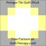"""Antique Tile Quilt Block Free Pattern for a 12"""" quilt block at QuiltTherapy.com!"""
