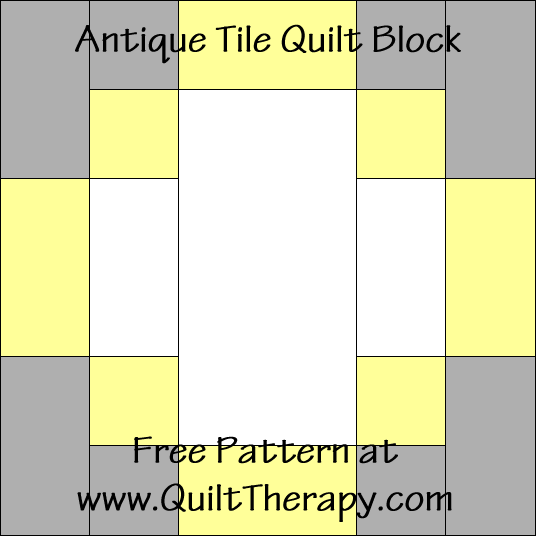 Antique Tile Quilt Block Free Pattern at QuiltTherapy.com!
