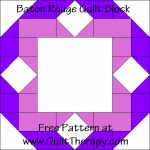 Baton Rouge Quilt Block Free Pattern at QuiltTherapy.com!