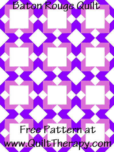 Baton Rouge Quilt Free Pattern at QuiltTherapy.com!