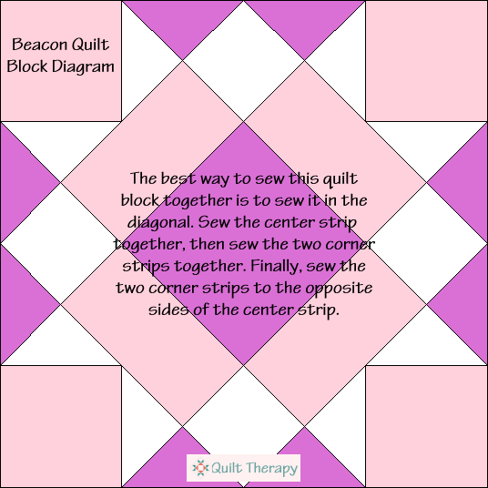 Beacon Quilt Block Diagram Free Pattern at QuiltTherapy.com!