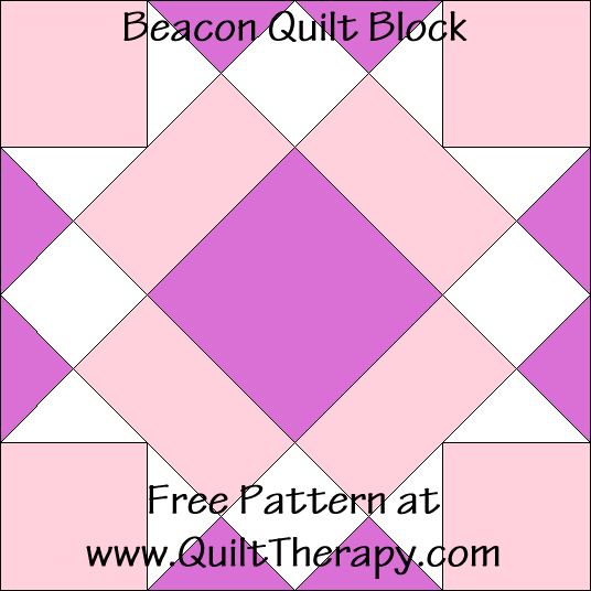 Beacon Quilt Block Free Pattern at QuiltTherapy.com!